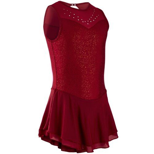Платье для фигурного катания детское OXELO Х Decathlon Бордо 14