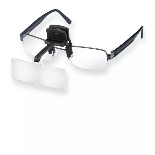 Лупа-клип бинокулярная Eschenbach с креплением на очки laboCLIP, 74.5х28 мм, 1.7х