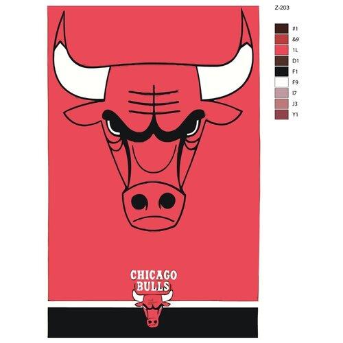 Картина по номерам «Логотип Chicago Bulls» 40х60 см (Z-203)