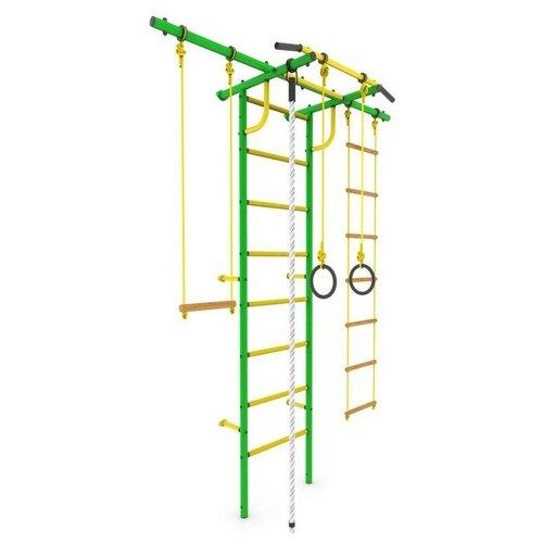 Купить Детский спортивный комплекс «Роки-Плюс», ПВХ, 650 × 1630 × 2300 мм, цвет зелёный, ROKIDS, Игровые и спортивные комплексы и горки
