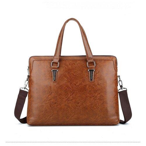 Сумка мужская (портфель) светло-коричневая, артикул TKS73-000088