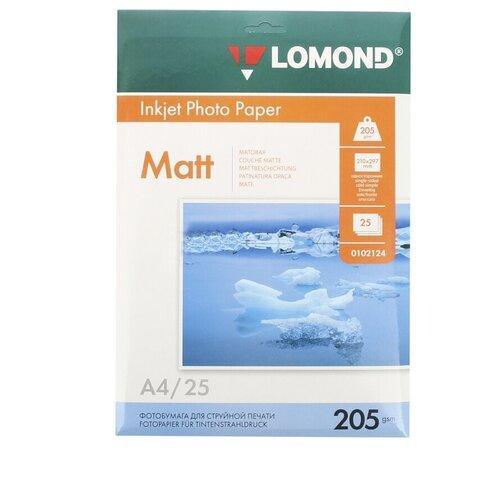Фото - Фотобумага Lomond A4 205g/m2 матовая односторонняя 25 листов фотобумага lomond 100x150 180g m2 матовая односторонняя 50 листов 102063