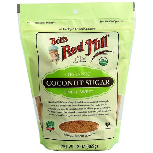 Сахар Кокосовый Bob's Red Mill, USDA Organic, Vegan, Non GMO, 369 г.