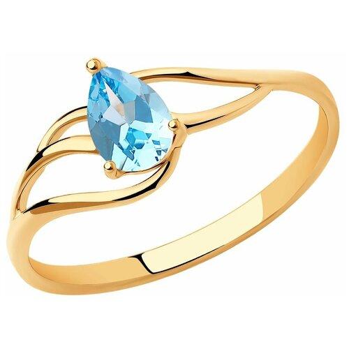 Diamant Кольцо из золота с топазом 51-310-00973-1, размер 17.5 diamant кольцо из золота с топазом 51 310 00971 1 размер 17