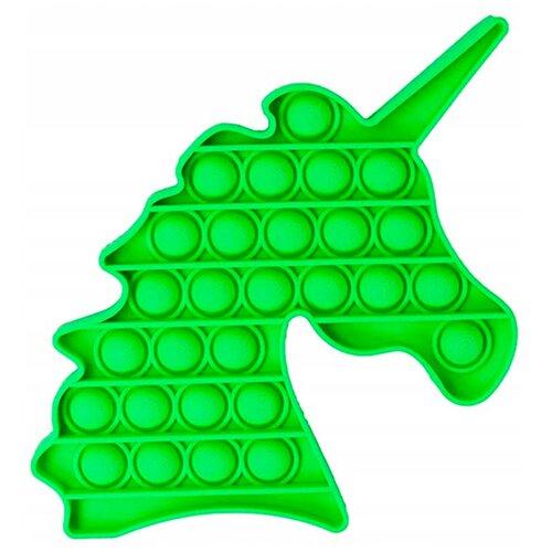Pop it Тактильная Игрушка антистресс с пузырьками / Поп ит пупырка сенсорная игрушка для развития моторики / Развивающая игра для детей и взрослых (Единорог), Зеленый