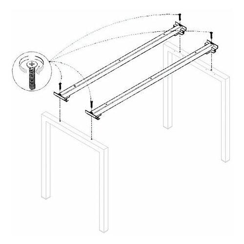 Траверса стола на металлокаркасе