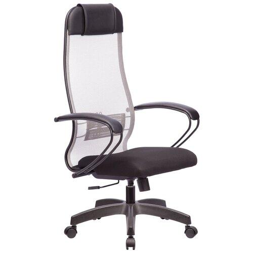 Кресла руководителя Кресло руководителя Метта Комплект 11, PL, сетка светло-серая 24/черная, топ-ган
