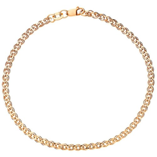 КРАСЦВЕТМЕТ Браслет золотой плетения Нонна НБ12-200ПГ, 20 см, 5.56 г