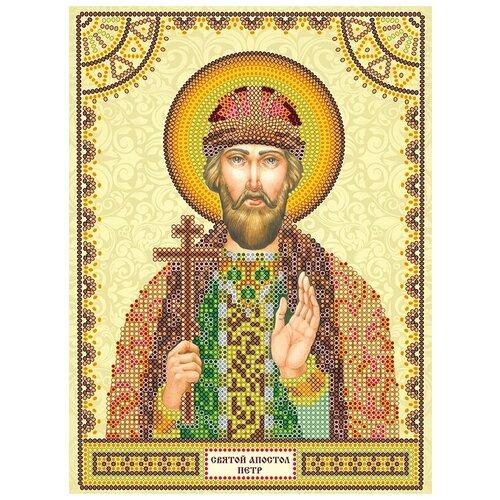 Схема для вышивки иконы бисером на холсте АБРИС АРТ АСK-025 Святой Петр 17х23мм