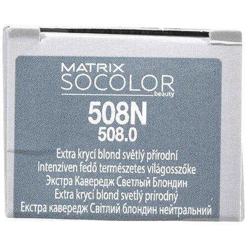 Купить Matrix Socolor Beauty стойкая крем-краска для волос Extra coverage, 508N светлый блондин, 90 мл