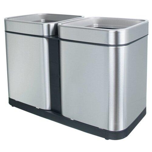 Ведро для раздельного сбора мусора, 2 емкости, Foodatlas JAH-7520, 30л (15+15) ведро для мусора держатель б полотенец foodatlas jah 543 6л белый