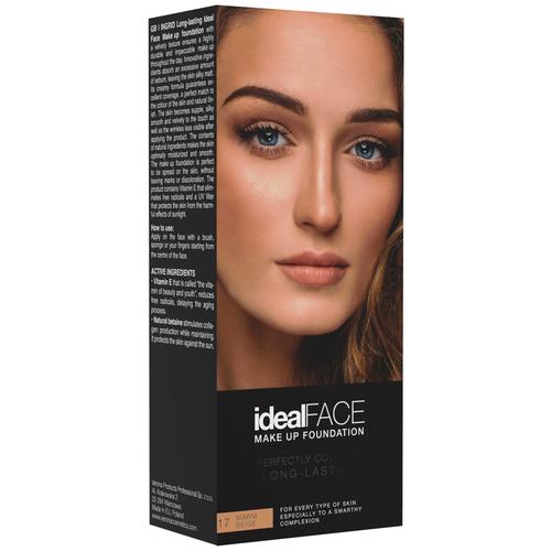 Ingrid Cosmetics Тональный крем Ideal Face, оттенок: 17 warm beige недорого