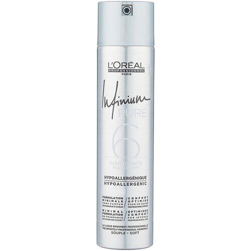 L'Oreal Professionnel Лак для волос Infinium pure Soft, средняя фиксация, 300 мл недорого