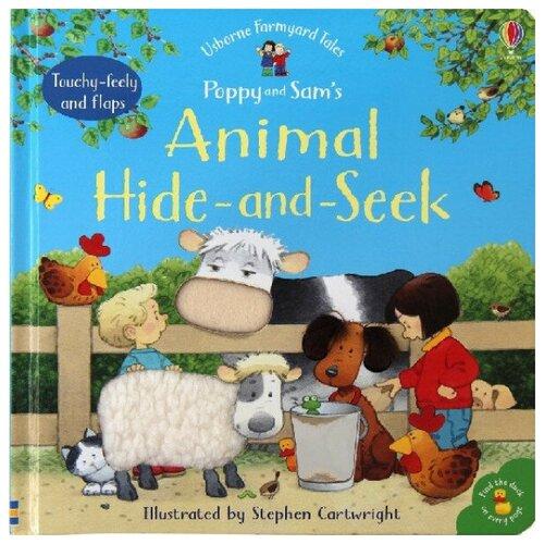 Купить Poppy and Sam's Animal Hide and Seek Board Book, Usborne, Детская художественная литература