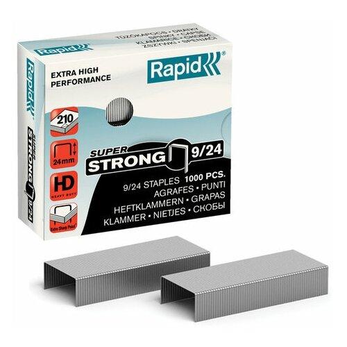 Купить Скобы для степлера RAPID HD210 Super Strong №9/24, 1000 штук, до 210 листов, 24871800, 1 шт., Степлеры, скобы, антистеплеры