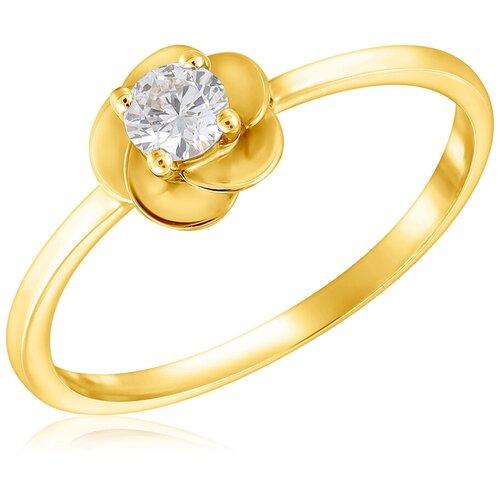 Бронницкий Ювелир Кольцо из белого золота ю1R25606, размер 16.5