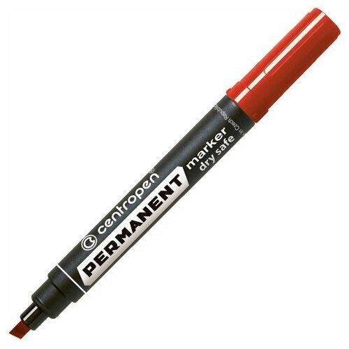 Купить Маркер перманентный CENTROPEN 8516, красный, скошенный наконечник, 2-5 мм, 5 8516 0104, 4 шт., Маркеры