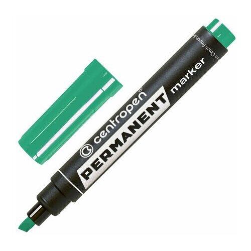 Купить Маркер перманентный CENTROPEN 8576, зеленый, скошенный наконечник, 1-4, 6 мм, 5 8576 0110, 5 шт., Маркеры