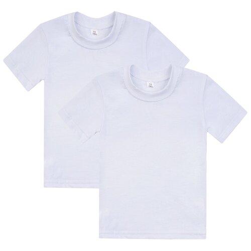 Фото - Комплект футболк белых 2шт,Утенок К-510б-2, рост 98 см, цвет белый комплект одежды утенок размер 98 белый черный