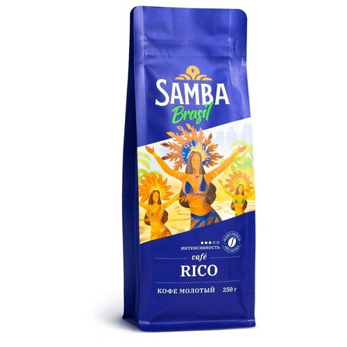 Фото - Кофе молотый Samba Cafe Brasil Rico, 250 г кофе молотый samba cafe brasil rico 250 г