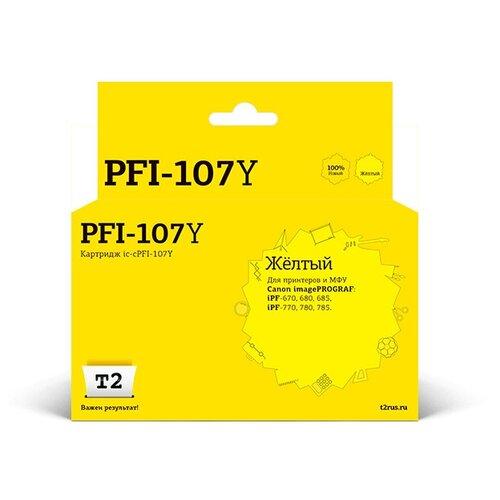 Фото - Картридж T2 IC-CPFI-107Y Yellow для Canon imagePROGRAF iPF-670/680/685/770/780/785 картридж t2 ic cpfi 107mbk black для canon imageprograf ipf 670 680 685 770 780 785
