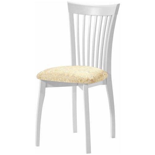 Комплект стульев Аврора Тулон Эмаль белая/Андрис Вензель 160 беж
