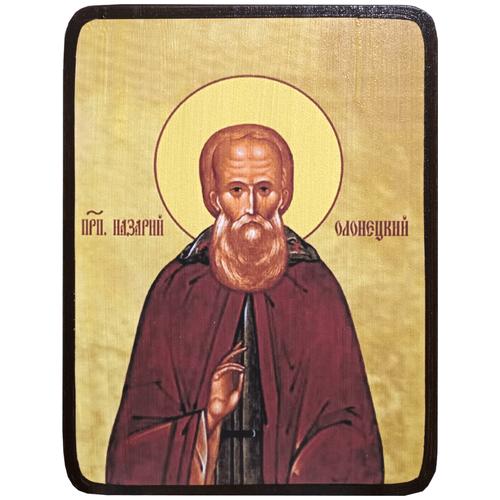 Икона Назарий Олонецкий, Мурманский, размер 14 х 19 см