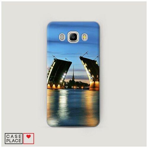 Чехол Пластиковый Samsung Galaxy J5 2016 Разведенные мосты в СПб 2