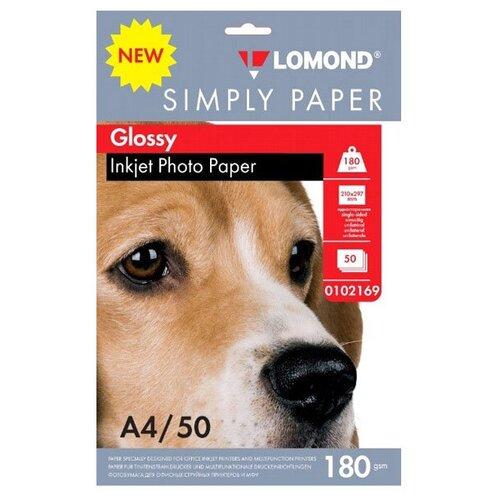 Фото - Фотобумага Lomond Simply Papers A4 180g/m2 Глянцевая 50 листов Lom_IJ_0102169 фотобумага lomond a3 230g m2 глянцевая односторонняя 50 лист
