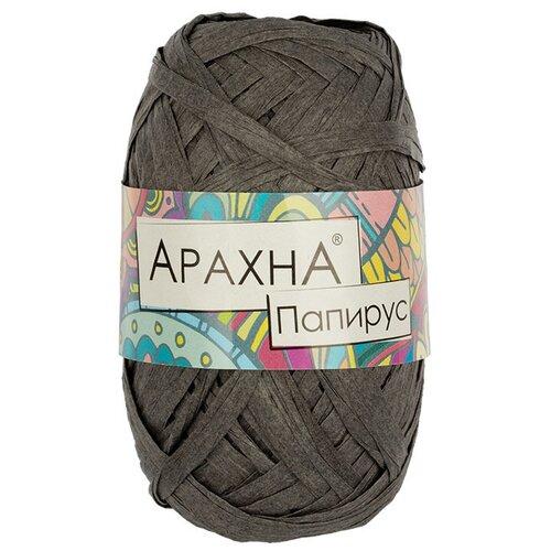 Купить Набор пряжи ARACHNA Papyrus, 100% целлюлоза, 10*40+/-3 г, 50+/-4 м, №07, темный серый, Изготовление кукол и игрушек