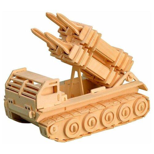 сборная модель мир деревянных игрушек ракетная установка п052 Сборная модель Мир деревянных игрушек Ракетная установка (П052)