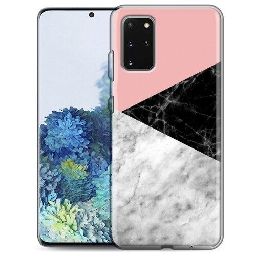 Дизайнерский силиконовый чехол для Samsung Galaxy S20 Plus Мраморные тренды