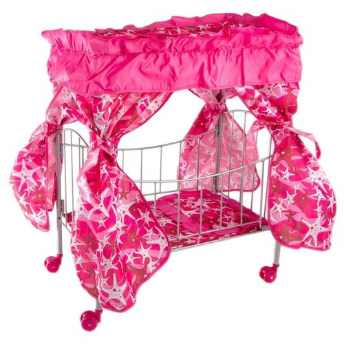 Buggy Boom Кроватка с балдахином Loona темно-розовый со звездами