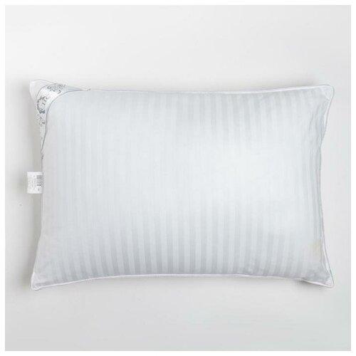 Подушка Лебяжий пух Сатин 50х70 см, иск. лебяжий пух, хлопок 100% (сатин)