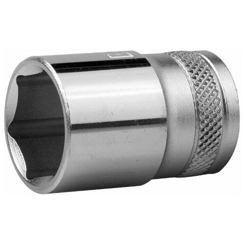 Торцовая головка KRAFTOOL 1/2, 18 мм, Cr-V сталь, хромированная 27805-18_z01 kraftool торцовая головка kraftool industrie qualitat cr v flank хромосатинированная 1 2 17 мм 27805 17 z01