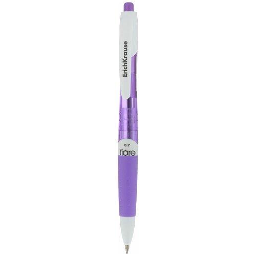 Ручка шариковая автоматическая ErichKrause Fiore, цвет чернил синий, цвет корпуса фиолетовый, синий