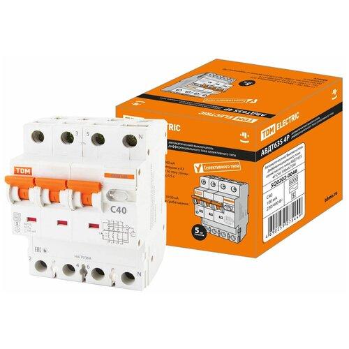 Фото - Автоматический Выключатель Дифференциального тока селективного типа АВДТ 63S 4P(3P+N) C40 100мА 6кА тип А TDM автоматический выключатель дифференциального тока tdm electric sq0202 0006 авдт 63 c40 30 ма
