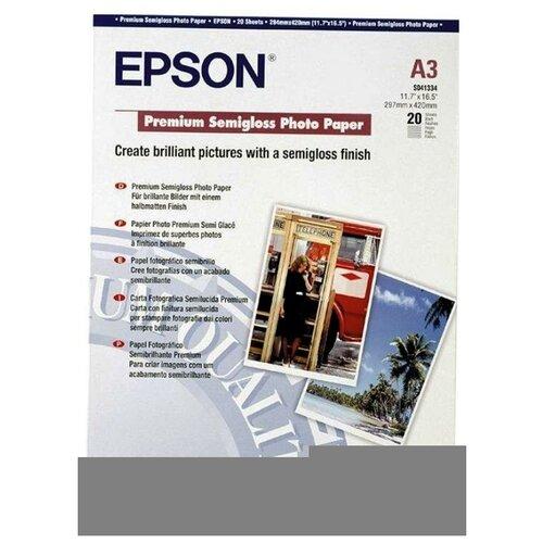 Фото - Epson C13S041334 Бумага Premium Semiglossy Photo Paper, A3, полуглянцевая, 251г/м2, 20 листов фотобумага epson premium semigloss photo paper