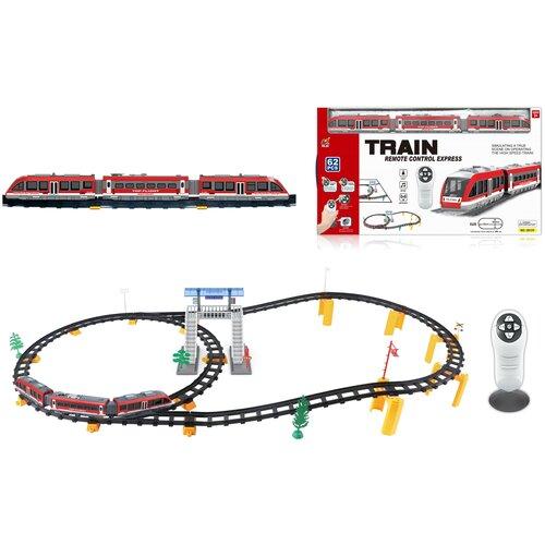 Купить Железная дорога с пультом управления (поезд Красная стрела, длина 396 см, свет, звук) - 2813Y, CS Toys, Наборы, локомотивы, вагоны