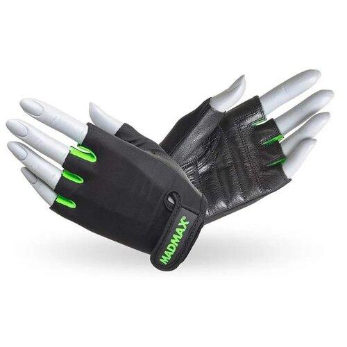 Перчатки для фитнеса / перчатки спортивные Rainbow MAD MAX, натуральная кожа, зеленые М