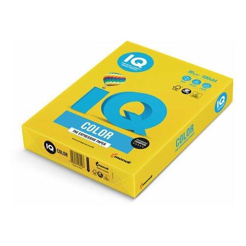 Фото - Бумага цветная IQ color, А4, 80 г/м2, 500 л., интенсив, ярко-желтая, IG50 бумага цветная iq color а4 160 г м2 100 л 5 цветов x 20 листов микс интенсив rb02
