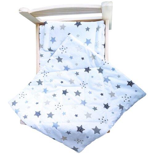 lili gaufrette болеро Комплект для большой куклы Lili Dreams: одеяло, подушка, матрас Звездный