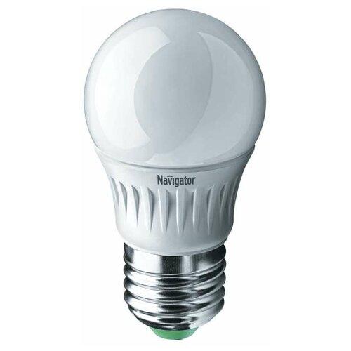 Лампа светодиодная 94 477 NLL-P-G45-5-230-2.7K-E27 5Вт шар 2700К тепл. бел. E27 330лм 220-240В Navigator 94477 (упаковка 10 шт)