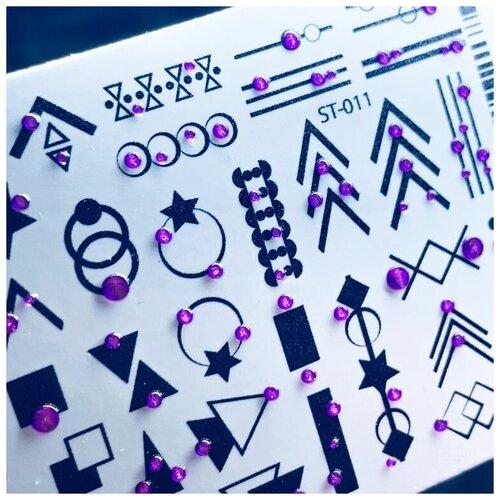 Купить ANNA TKACHEVA Anna Tkacheva, 3D хрустальный слайдер 3D-ST011 (black crystal)