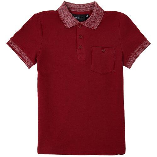 Поло FiNN FLARE, размер 8 (128), красный (301) поло finn flare красный 48 размер