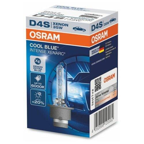 Лампа ксеноновая OSRAM D4S 35W P32d-5 Xenon Cool Blue Intense 6000K 42V, 66440CBI