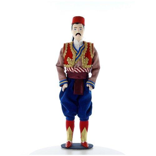 Кукла коллекционная Потешного промысла в мужском стилизованном костюме. Хорватия