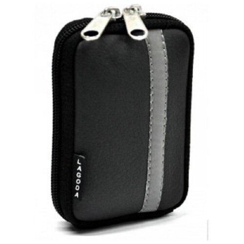 Фото - Сумка для компактного фотоаппарата Lagoda Alfa-019 Черная сумка для компактного фотоаппарата lagoda alfa 019 черно серая с полосой