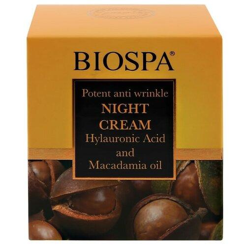 Купить Крем для лица ночной `SEA OF SPA` `BIOSPA` против морщин с гиалуроновой кислотой и маслом макадамии 50 мл