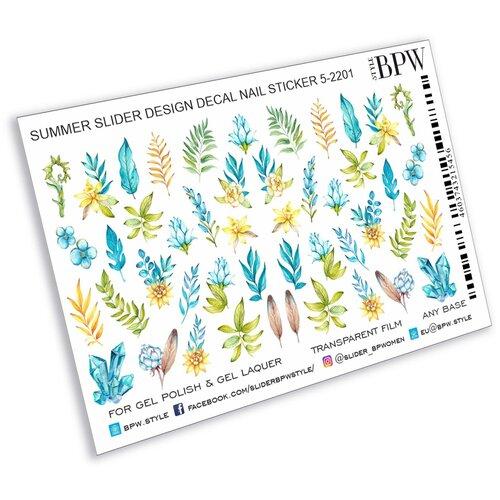 Купить BPW.Style, слайдер-дизайн (Голубые цветы и ветви, sd5-2201), BPW style